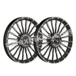 Buy ALLOY WHEEL SET FOR RE CLASSIC BLACK 20SPOKES WAVE HARLEY TYPE 2 KINGWAY on  % discount