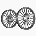 Buy ALLOY WHEEL SET FOR RE CLASSIC COMPLETE BLACK 20SPOKES WAVE HARLEY TYPE 2 KINGWAY on  % discount