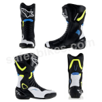 Buy ALPINESTARS SMX 6 V2 BOOTS (BLACK,WHITE,YELLOW FLUO,BLUE) UNIVERSAL on  % discount