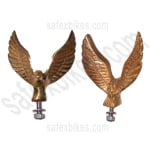Buy FRONT MUDGUARD BRASS EAGLE FOR ROYAL ENFIELD ZADON on 15.00 % discount