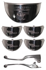 Buy CHROME PLATED INDICATOR CAP (set of 4) WITH HEADLIGHT CAP AND LEVER SET  FOR ROYAL ENFIELD BULLET ZADON on 15.00 % discount