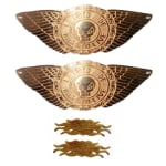 Buy BRASS PETROL TANK MONOGRAM WINGS (live to ride) AND MULTI PURPOSE EMBLEM (harley davidson design) FOR ROYAL ENFIELD BULLET ZADON on  % discount
