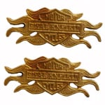 Buy BRASS MULTI PURPOSE EMBLEM HARLEY DESIGN FOR ROYAL ENFIELD BULLET ZADON on  % discount
