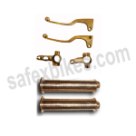 Buy BRASS SKULL HANDLE GRIP WITH PIPE AND LEVER SET AND YOKE D1 FOR ROYAL ENFIELD BULLET ZADON on  % discount