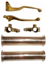 Buy BRASS HANDLE GRIP D2 AND LEVER SET WITH YOKE D2 FOR ROYAL ENFIELD BULLET ZADON on  % discount