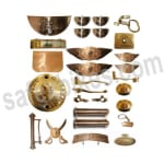 Buy BRASS COMPLETE ACCESSORIES KIT FOR BULLET ROYAL ENFIELD SET OF 28 ZADON on  % discount