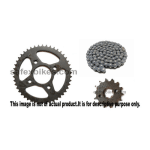 Buy CHAIN AND SPROCKET KIT TWISTER 110CC IFB on 0 % discount