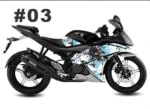 Buy CUSTOM STICKER KIT FOR YAMAHA R15 VERSION 2 BLACK N WHITE COMBINATION ZADON on  % discount