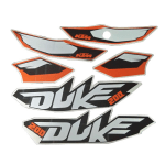 Buy COMPLETE STICKER KIT DUKE 200 ZADON on 15.00 % discount