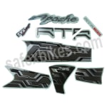 Buy COMPLETE STICKER KIT APACHE RTR 180 ABS ZADON on  % discount