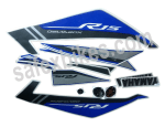 Buy COMPLETE STICKER KIT R15 NM ZADON on  % discount