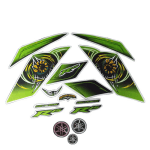 Buy COMPLETE STICKER KIT R15 THUNDERING GREEN SPECIAL LIMITED EDITION (TYPE 3) ZADON on  % discount