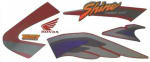 Buy COMPLETE STICKER KIT HONDA SHINE TYPE 1 ZADON on  % discount