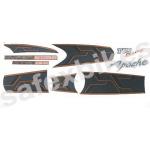 Buy COMPLETE STICKER KIT APACHE RTR HYPER EDGE 160 ZADON on  % discount