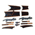 Buy COMPLETE STICKER KIT APACHE RTR HYPER EDGE 160 ZADON on  % discount