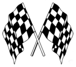 Buy DOUBLE RACING FLAG FANCY STICKER (6 InchesX6 Inches) ZADON on  % discount