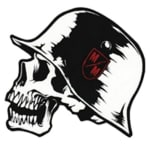 Buy SKULL WITH HAT FANCY STICKER (4INCHESX4INCHES) on  % discount