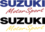 Buy FANCY STICKER SUZUKI MOTOSPORT  SET OF 2 (8INCH X 3INCH) D1 ZADON on  % discount