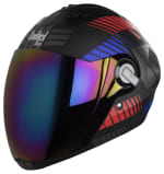 Buy FULL FACE HELMET  SBA-2 ROBOT RED WITH BLUE MATT FINISH (600MM) STEELBIRD AIR on 5.00 % discount