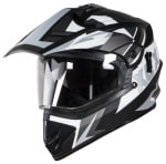 Buy FULL FACE HELMET SB-42 XCX GLOSSY BLACK WITH  WHITE (600MM) STEELBIRD on 5.00 % discount