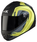 Buy FULL FACE HELMET SB-39 ROX FLASH MAT BLACK WITH NEON YELLOW (600MM) STEELBIRD on  % discount