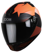 Buy FULL FACE HELMET SBH-11 ZOOM TRACE MAT BLACK WITH ORANGE   HIGN on 0 % discount