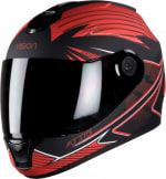 Buy FULL FACE HELMET  STEELBIRD HI-GN MEN VISION DECAL ATTIS MATT BLACK WITH RED  HIGN on  % discount