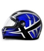 Buy Vega - Full Face Helmet - Formula HP Moto Craft ( Black Base with Blue Graphics) on 0 % discount