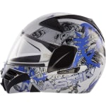Buy STEELBIRD MODULAR HELMET SB-34 ZORRO, MASTIC FULL FACE (WHITE+BLUE 60 CM) on  % discount