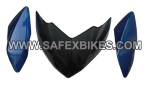 Buy FRONT FAIRING (VISOR) PULSAR 135 SET OF 3 UB WITH OET GLASS ZADON on 15.00 % discount
