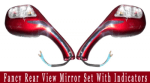 Buy FANCY REAR VIEW MIRROR SET WITH INDICATORS on 15.00 % discount
