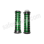 Buy MOTORCYCLE HANDLE GRIP WITH PIPE ( CROME PAINTED GREEN) MONSTER ENERGY ZOOM on  % discount