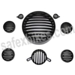 Buy COMPLETE BLACK GRILL SET OF 8 FOR STANDARD 350CC ZADON on  % discount