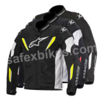 Buy ALPINESTARS T-GP R AIR JACKET (BLACK,WHITE,YELLOW FLUO) UNIVERSAL on 5.00 % discount