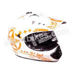 Buy Autogreen X7 White Orange Sports Motorbike full face motocross Helmet - M (black) on  % discount