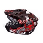 Buy Autogreen X-7 Motorbike full face motocross Helmet - M (black) on  % discount