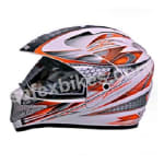 Buy GLIDERS FULL FACE MOTOCROSS HELMET WITH VISOR MC1 WHITE ORANGE on  % discount