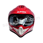 Buy GLIDERS FULL FACE MOTOCROSS HELMET WITH VISOR MC1 CHERRY RED on  % discount