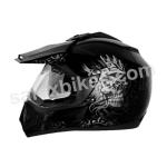Buy Vega motocross full face Helmet - Off Road D/V Ranger (Dull Black Base With Silver Graphic) on 0 % discount