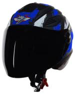 Buy OPEN FACE HELMET SBA-6 STROKE MAT BLACK WITH BLUE (600MM) STEELBIRD AIR on  % discount
