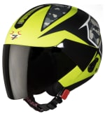 Buy OPEN FACE HELMET SBH-5 VIC CAMO MAT BLACK WITH M.GREEN HIGN on  % discount