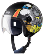 Buy OPEN FACE HELMET SBH-16 SKIP ANGRY CHIMP (FOR KIDS) HIGN on  % discount