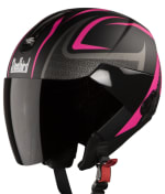 Buy OPEN FACE HELMET SB-33 EVE SUBLIME MAT BLACK WITH PINK (580MM) STEELBIRD on 5.00 % discount