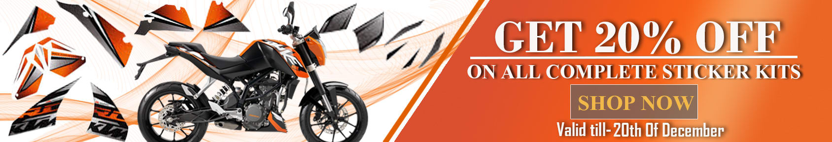 Special offers on Genuine Motorcycle Spare Parts And Accessories - 20% Off at Complete Sticker kit