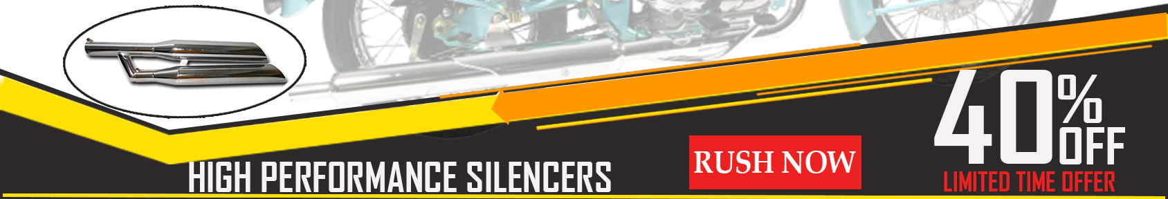 Special offers on Genuine Motorcycle Spare Parts And Accessories - 40% off on high performance silencer
