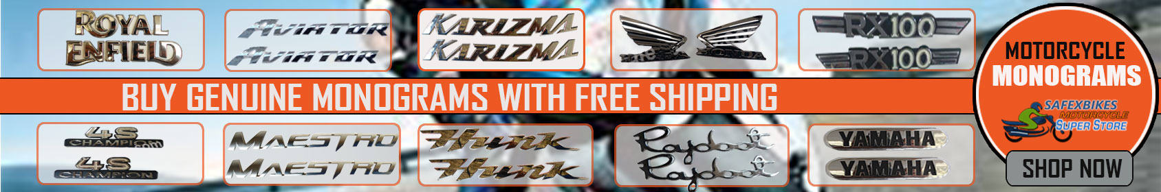 Special offers on Genuine Motorcycle Spare Parts And Accessories - MOTORCYCLE MONOGRAMS