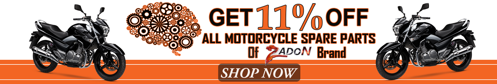 Special offers on Genuine Motorcycle Spare Parts And Accessories - Discount on Zadon Brand Spare Parts