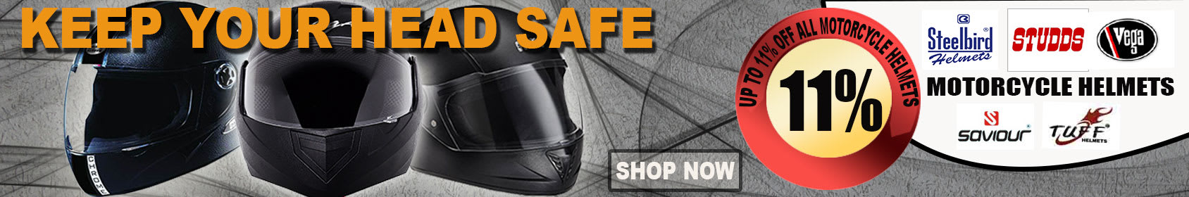 Special offers on Genuine Motorcycle Spare Parts And Accessories - 11% Off all motorcycle Helmets