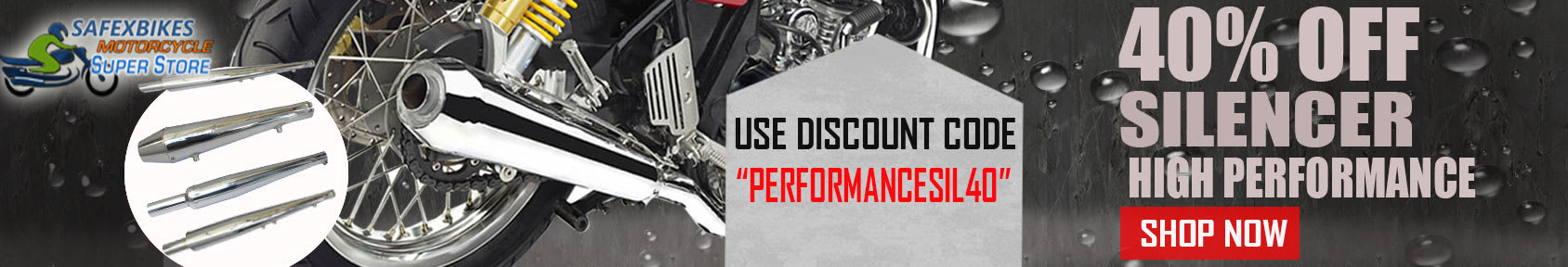 Special offers on Genuine Motorcycle Spare Parts And Accessories - Buy High performance Silencer get 40% discount