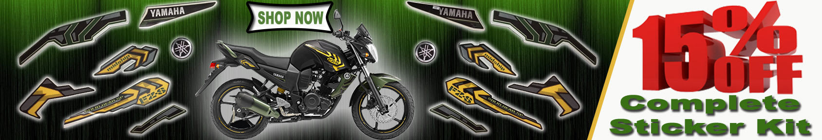 Special offers on Genuine Motorcycle Spare Parts And  		   Accessories - Buy Motorcycle and Scooter Sticker Kits of Best Quality